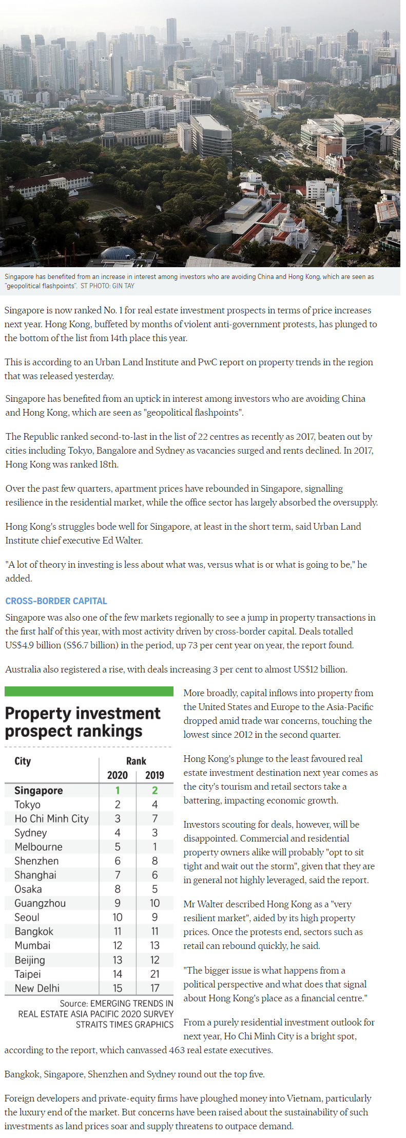 The Florence Residences - Singapore Tops Region For Property Investment Prospects